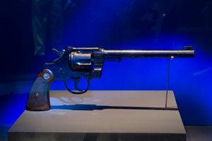 O revólver usado por Guilherme Paraense